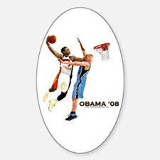 Obama Dunk on McCain Oval Decal