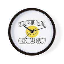 """""""Happiness..Genomics Guru"""" Wall Clock"""