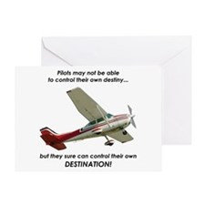 Pilots control their own destination Greeting Card