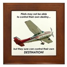 Pilots control their own destination Framed Tile