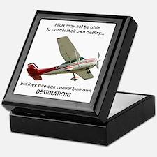 Pilots control their own destination Keepsake Box