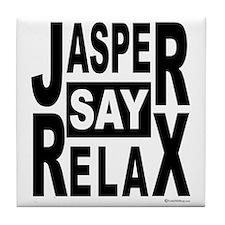 Jasper Say Relax Tile Coaster
