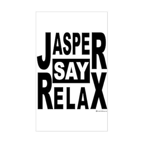 Jasper Say Relax Rectangle Sticker