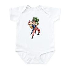 Uncle Sam Santa Christmas Infant Bodysuit