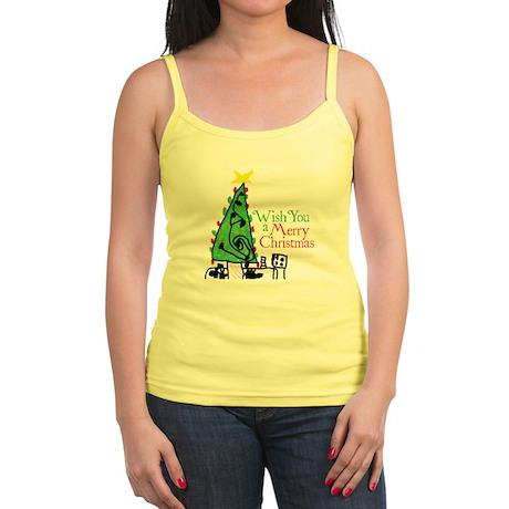 Wish You a Merry Christmas Jr. Spaghetti Tank