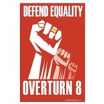Large Poster - Post ElectionDefend Equality Design