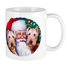 Santa's Airedales Christmas Mug
