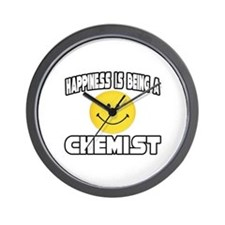 """Happiness...Chemist"" Wall Clock"