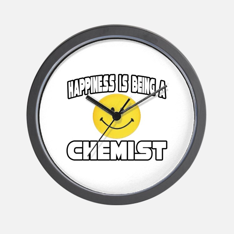 """Happiness...Chemist"" Wall Clock"