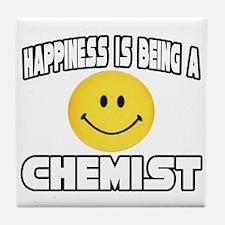 """Happiness...Chemist"" Tile Coaster"