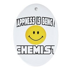 """Happiness...Chemist"" Oval Ornament"