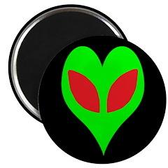 """Alien Heart 2.25"""" Magnet (100 pack)"""