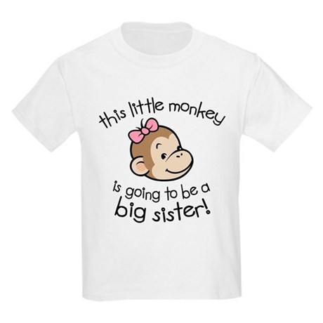 Big Sister to be - Monkey Face Kids Light T-Shirt