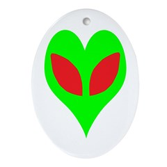 Alien Heart Ornament (Oval)