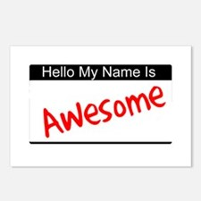 Hello my name is...Awesome Postcards (Package of 8