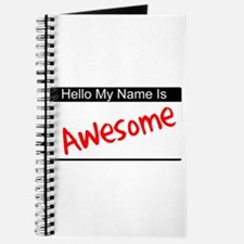 Hello my name is...Awesome Journal