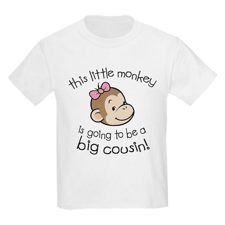 Big Cousin to be - Monkey Face Kids Light T-Shirt