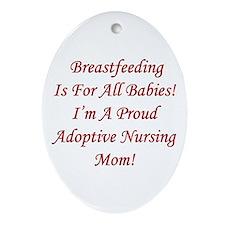 Proud Adoptive Nursing Mom Keepsake (Oval)