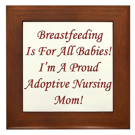 Proud Adoptive Nursing Mom Framed Tile