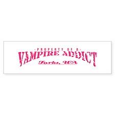 Property of a Vampire Addict Bumper Bumper Sticker