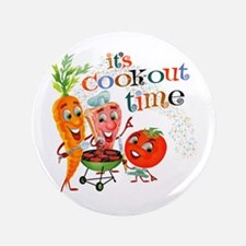 """Cook-Out Time 3.5"""" Button"""