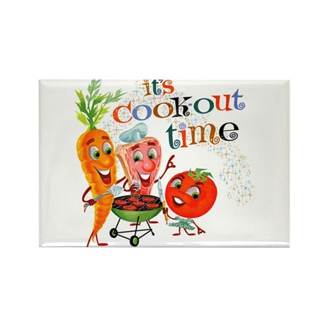 Cook-Out Time Rectangle Magnet (10 pack)