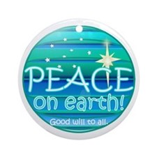 Unique Peace on earth Ornament (Round)