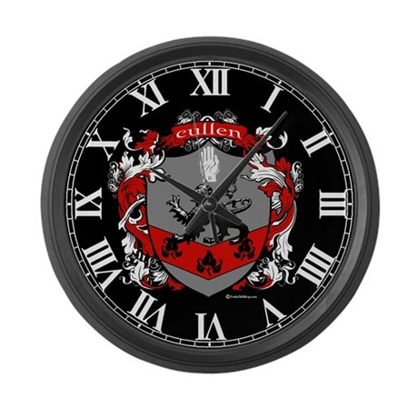 Cullen Family Crest Large Wall Clock