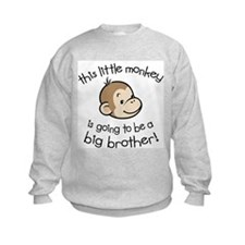 Big Brother to be - Monkey Face Sweatshirt