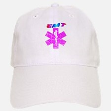 Pink EMT star of life Baseball Baseball Cap
