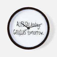 Autism Today Genius Tomorrow Wall Clock