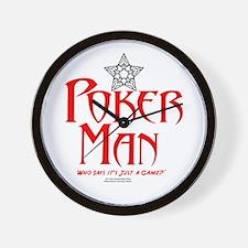 Poker Man Wall Clock