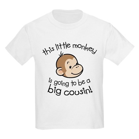Big Cousin to be - Monkey Face Kids Light T-Shirt