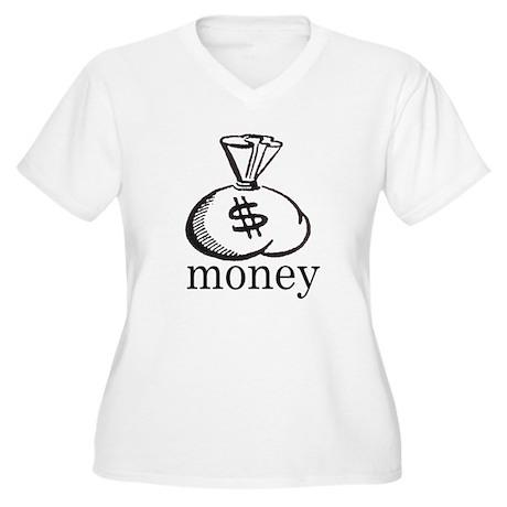 Money Women's Plus Size V-Neck T-Shirt