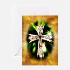 White Cross Blank Greeting Card