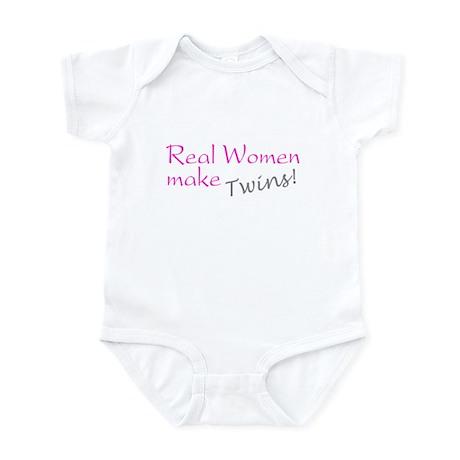 Real Women Make Twins Infant Bodysuit