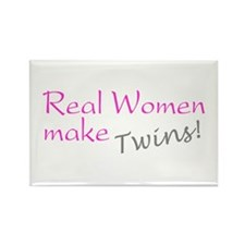 Real Women Make Twins Rectangle Magnet