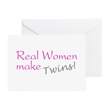 Real Women Make Twins Greeting Card