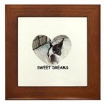SWEET DREAMS BOSTON TERRIER Framed Tile