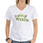 Throw Up Machine Women's V-Neck T-Shirt