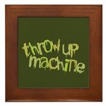 Throw Up Machine Framed Tile
