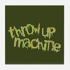 Throw Up Machine Tile Coaster