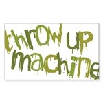 Throw Up Machine Rectangle Sticker
