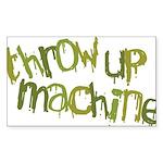 Throw Up Machine Rectangle Sticker 50 pk)
