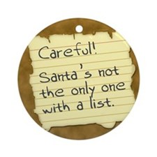 Santa's List Ornament (Round)