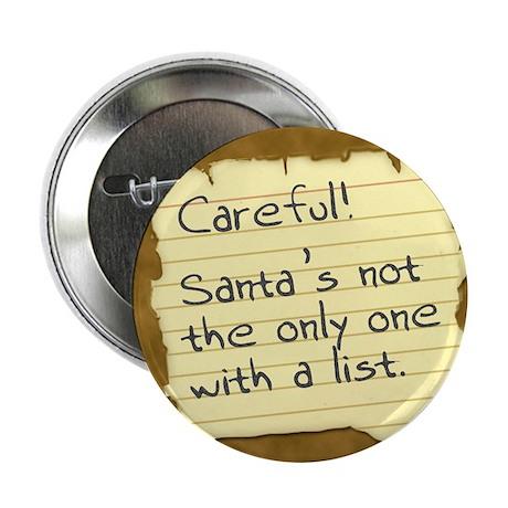 "Santa's List 2.25"" Button (100 pack)"