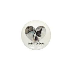 SWEET DREAMS BOSTON TERRIER Mini Button (10 pack)