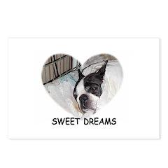 SWEET DREAMS BOSTON TERRIER Postcards (Package of