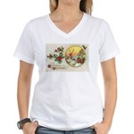 Dutch Christmas Women's V-Neck T-Shirt