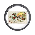 Dutch Christmas Wall Clock